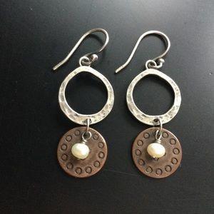Silpada copper coin earrings
